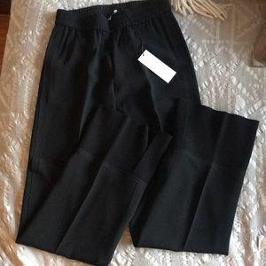Helmut Lang Crepe Wide-Legged Pants